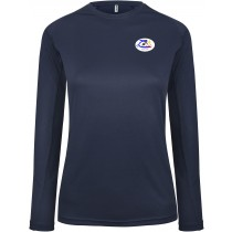 T-SHIRT SPORT MANCHES LONGUES FEMME marine